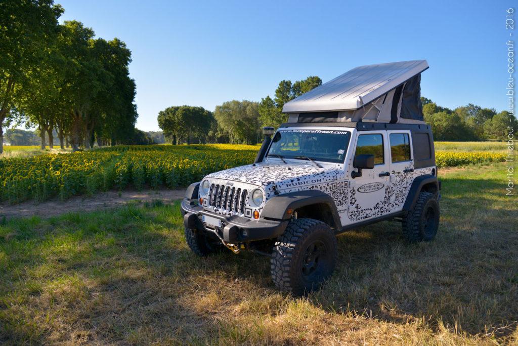 Le Jkamper tente de toit intégrée à un hard-top de Jeep Wrangler Unlimited JKU & JLU interieur